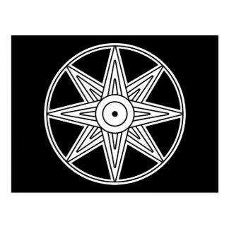 Inanna stjärnasymbol vykort