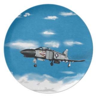Inbillad jetkämpe för marin F4 Tallrik