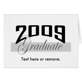 Inbjudan 2009 för studentstudentenkort II Hälsningskort