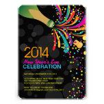 Inbjudan 2014 för party för nya år för höftanpassa
