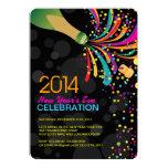 Inbjudan 2014 för party för nya år för 12,7 x 17,8 cm inbjudningskort
