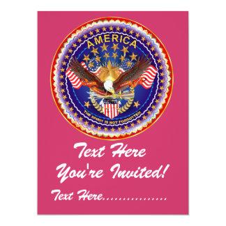 "Inbjudan 6,5"" x 8,75"" inte-glömda Amerika…., 16,5 X 22,2 Cm Inbjudningskort"