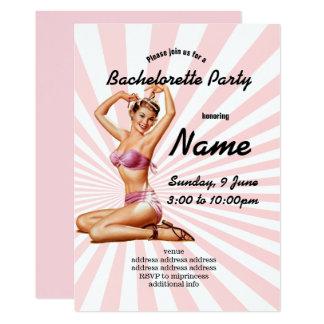 inbjudan Bachelorette party, vintagepinupflicka