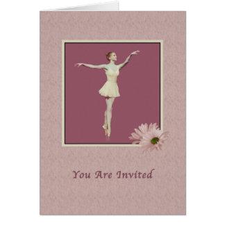 Inbjudan Ballerina på Pointe med daisy Hälsningskort