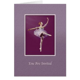 Inbjudan danshögläsning, Ballerina, anpassade Hälsningskort