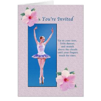 Inbjudan danshögläsning, Ballerina Hälsningskort
