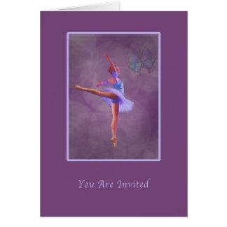 Inbjudan danshögläsning, Ballerina i Arabesque Hälsningskort