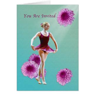 Inbjudan danshögläsning, Ballerina, Muns Hälsningskort