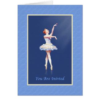 Inbjudan danshögläsning, Ballerina på Pointe Hälsningskort
