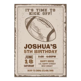 Inbjudan för amerikanfotbollfödelsedag