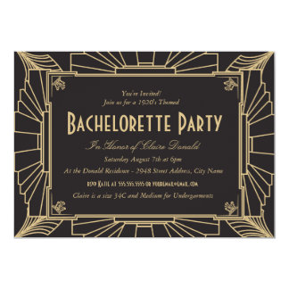 Inbjudan för art décostilBachelorette party