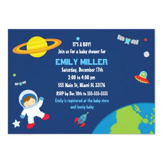 Inbjudan för astronaututrymmebaby shower