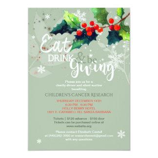 Inbjudan för auktion för vintervälgörenhetmiddag |