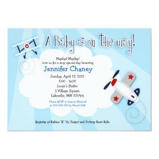 Inbjudan för baby shower för BABYFLYGAREflygplan