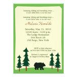 Inbjudan för baby shower för björnAdirondack loge