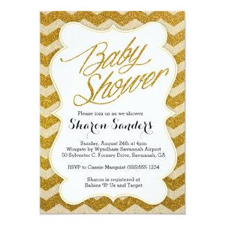 Inbjudan för baby shower för glitterLooksparre -