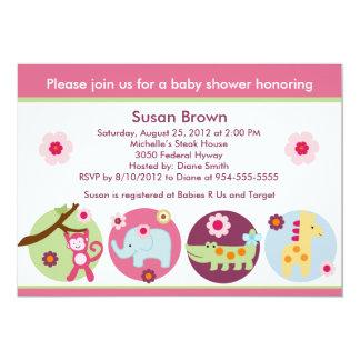 Inbjudan för baby shower för klubbadjungeldjur
