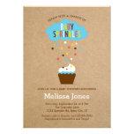 Inbjudan för baby shower för muffinbabystänk