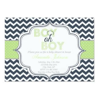 Inbjudan för baby shower för sparre för pojkeOh