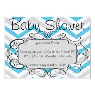 Inbjudan för baby shower för sparre för Tiffany