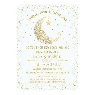 Inbjudan för baby shower för stjärna för