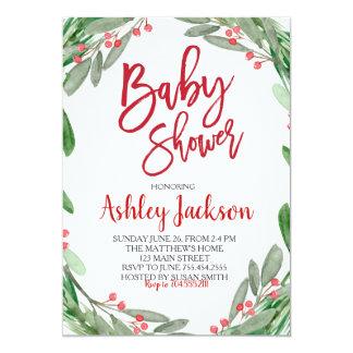 Inbjudan för baby showergrönskakran