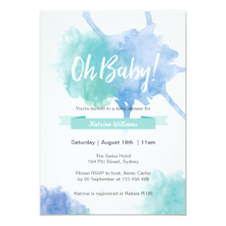 Inbjudan för baby showerOh bebisstänk