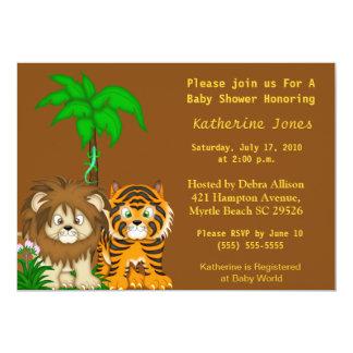 Inbjudan för BabyAnimals djungeldusch