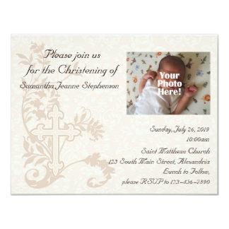 Inbjudan för babyfotoChristening