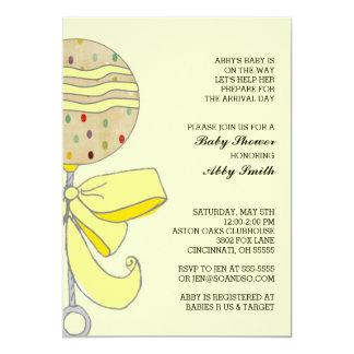 Inbjudan för babypladderbaby shower