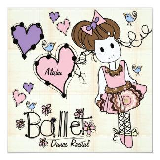 Inbjudan för balettdanshögläsning