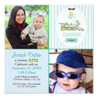 Inbjudan för barns födelsedag för foto för