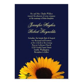 Inbjudan för BlueII solrosbröllop
