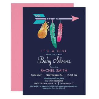Inbjudan för Boho flickababy shower