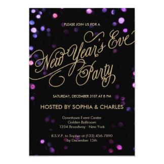 Inbjudan för Bokeh Glam nyårsaftonparty