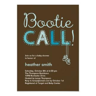 Inbjudan för Bootie appellbaby shower - blått