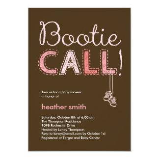 Inbjudan för Bootie appellbaby shower - rosa