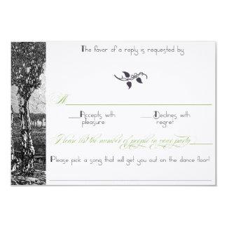 Inbjudan för bröllop för art nouveauträd