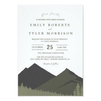 Inbjudan för bröllop för bergskogsmarkskog