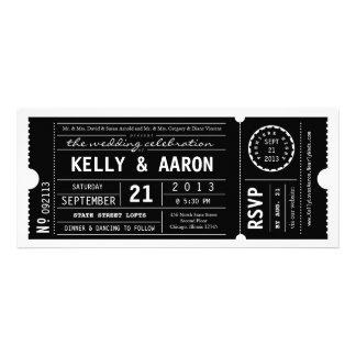 Inbjudan för bröllop för biljett för vintagePlaybi