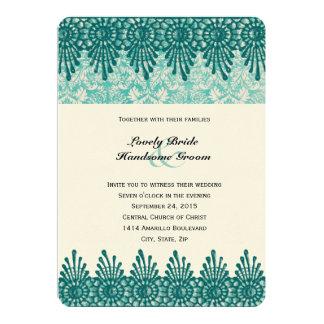 Inbjudan för bröllop för Boho krickablått