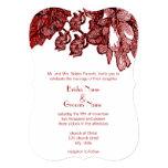 Inbjudan för bröllop för Burgundy kål rosa