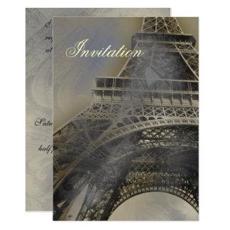 Inbjudan för bröllop för Eiffel torn Parisian