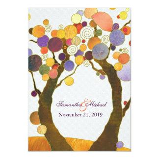 Inbjudan för bröllop för färgrika