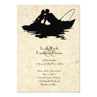 Inbjudan för bröllop för fartyg för