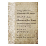Inbjudan för bröllop för gammal värld för vintages