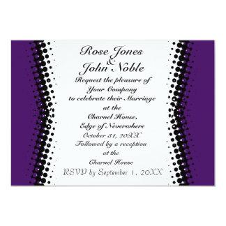Inbjudan för bröllop för halvskuggaelfenben