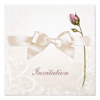 Inbjudan för bröllop för hjärtakrusidull rosa