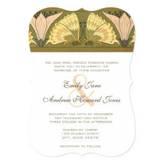 Inbjudan för bröllop för lilja för art inbjudningskort