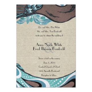 Inbjudan för bröllop för linne för